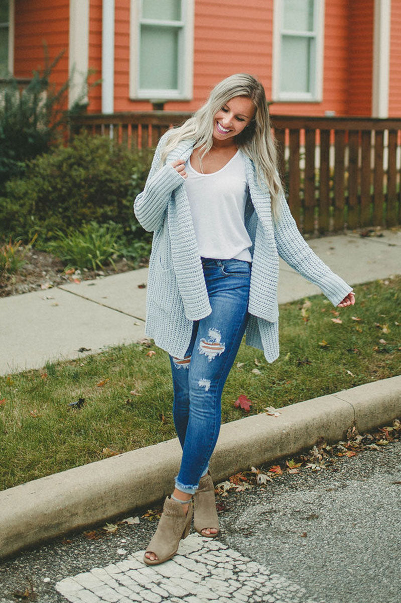 Casual Expectations Chenille Cardigan