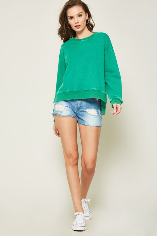 Adler Side Slit Sweatshirt