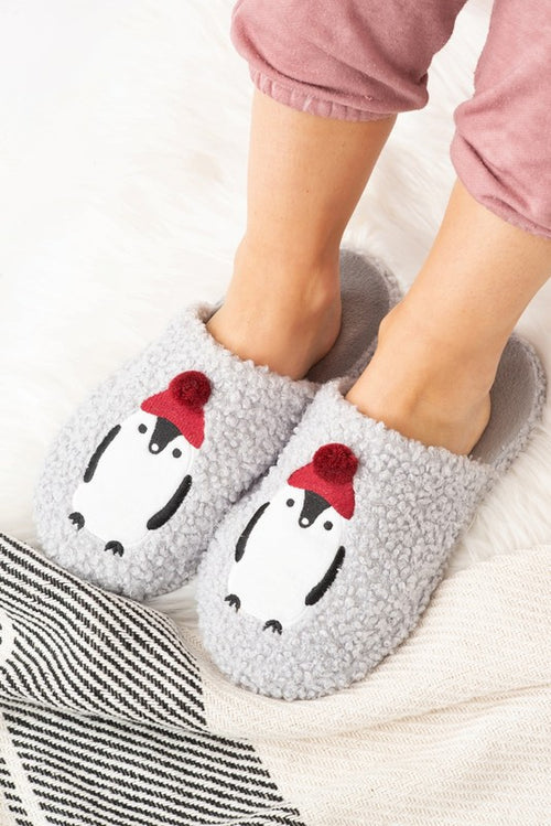 Holiday Penguin Slippers FINAL SALE