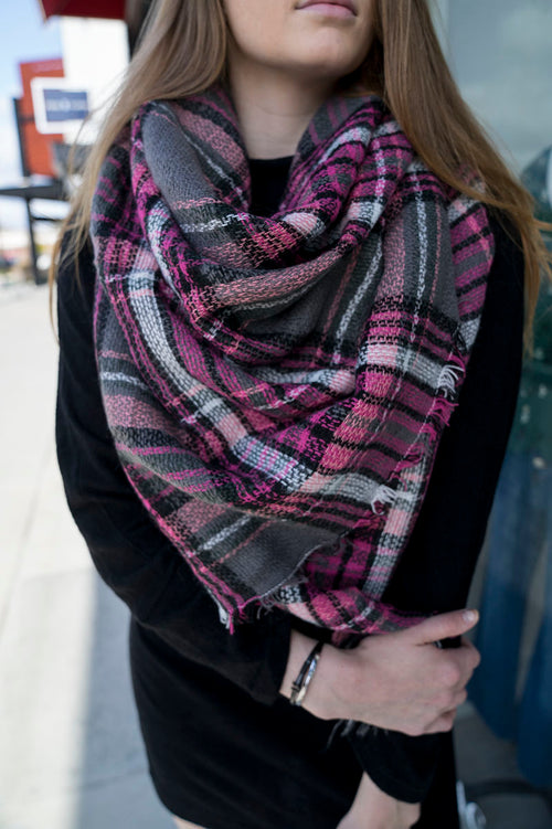 Piper Plaid Blanket Scarf