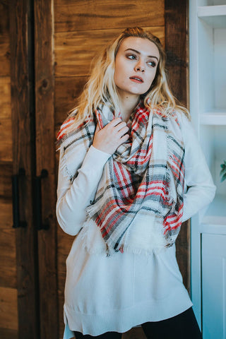 Bennett Watercolor Scarf