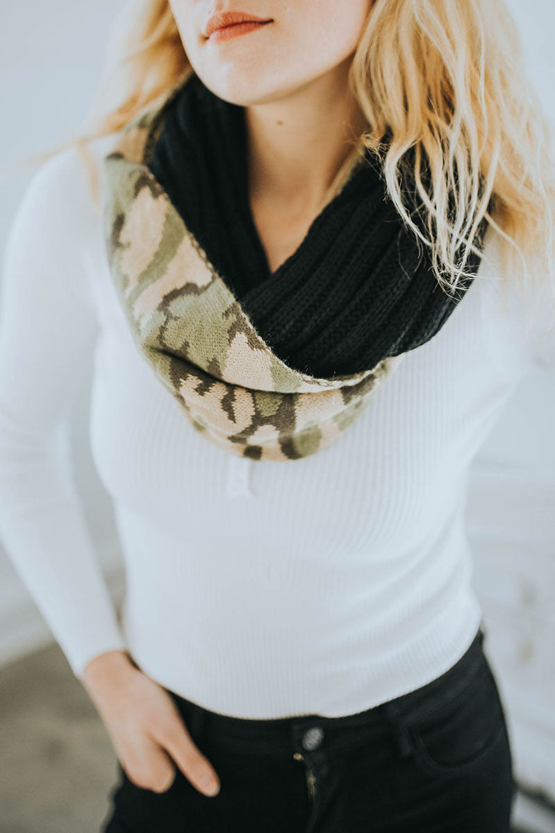 CC Camouflage Infinity Scarf