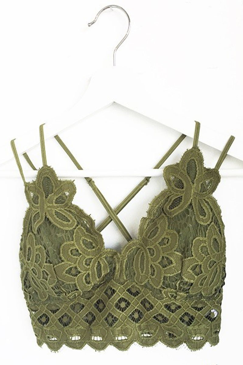 Major Crush Bralette - Olive