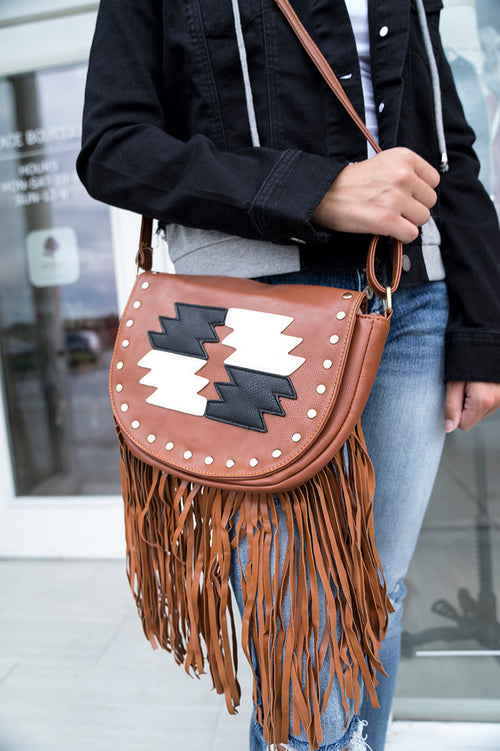 Elsie Faux Leather Fringe Bag