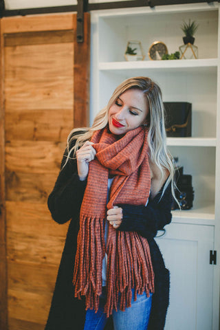 Season's Greetings Blanket Scarf (White)
