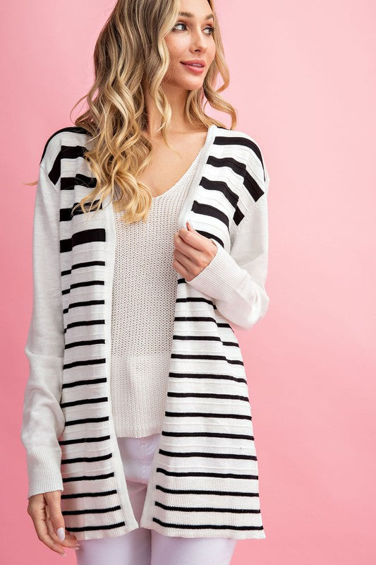 Demi Striped Cardigan