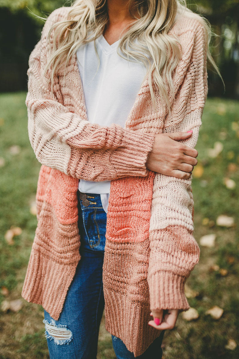 Radiant Shine Cardigan (Coral) FINAL SALE