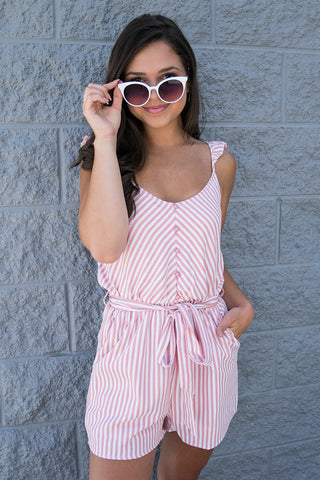 Abilene Striped Lace Tank