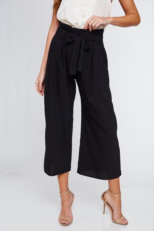 Farrah Paperbag Pants (Black)
