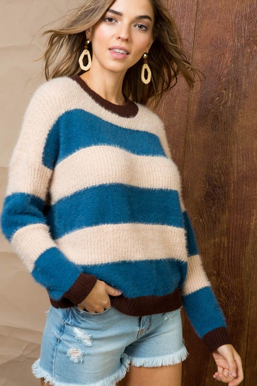 With Every Chance Striped Sweater FINAL SALE