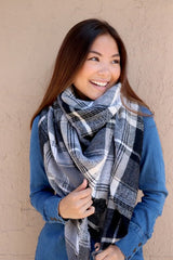 Olivia Plaid Blanket Scarf