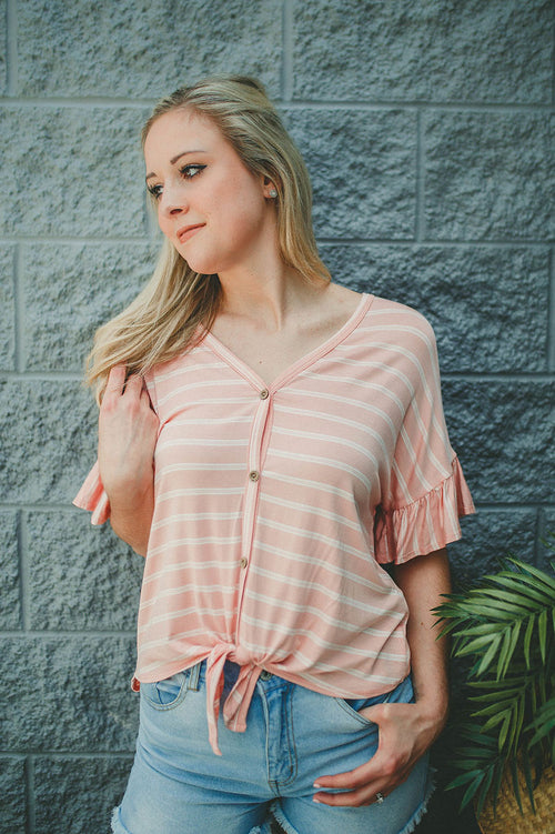 Fall In Line Striped Top