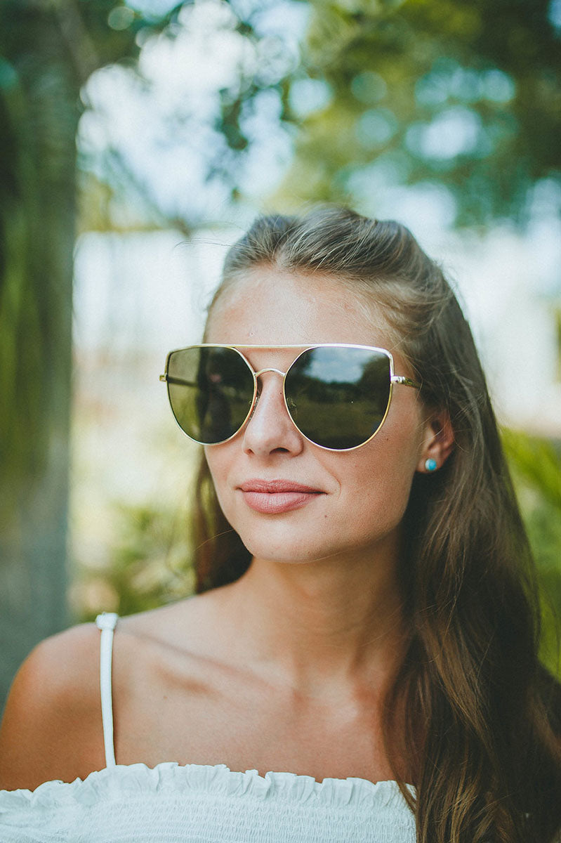 Venice Beach Sunglasses (Black/Gold)