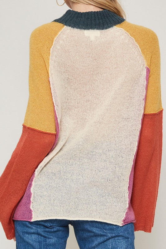 Jacey Color Block Sweater