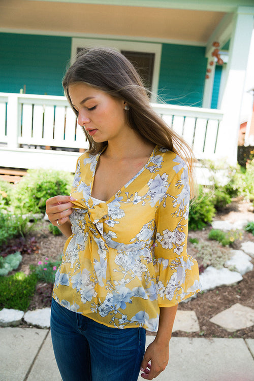 Keep Going Floral Top