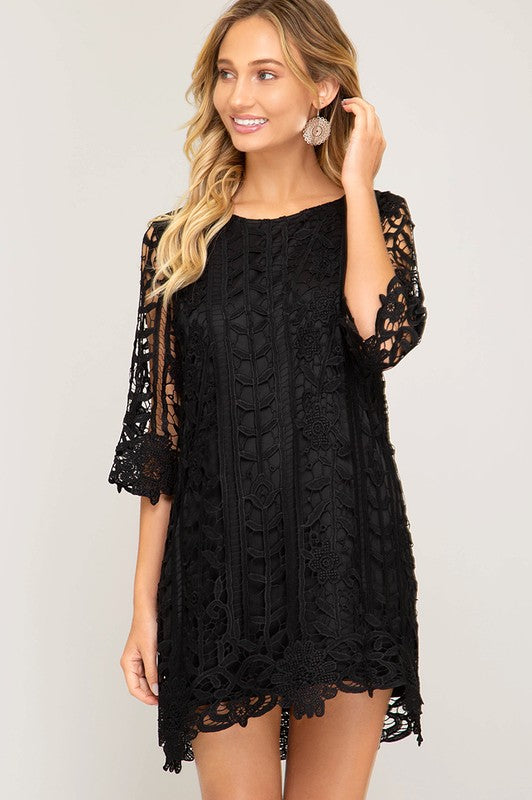 You're Cherished Scalloped Lace Dress