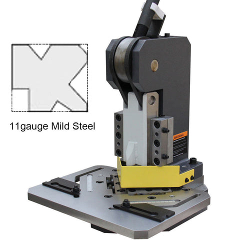 "KAKA Industrial HN-3/102 Heavy-Duty Metal Corner Notcher, 4x4"" Blade,11-Ga Mild Steel"