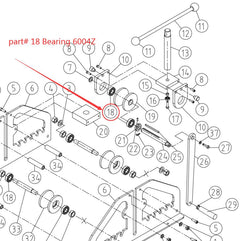 Spare parts 18# Bearing for TR-60