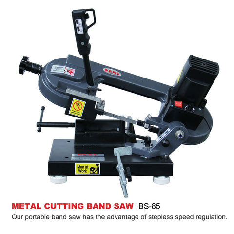 KAKA Industrial BS-85 220V-60HZ-1PH Metal Cutting Band Saw, Mini Band Saw