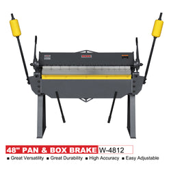 KAKA Industrial W-4812 48-Inch Heavy Duty Sheet Metal Pan And Box Brake
