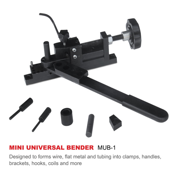 Tubing Wire Coil Flat Round Stock ABN Mini Rod Bender Metal Bending Tool Universal Bending Machine for Clamp Hook