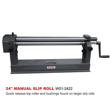 Free Shipping! KAKA Industrial W01-2422 24-Inch Slip Roll Machine, 22 Gauge Capacity, Solid Construction Slip Roll Machine