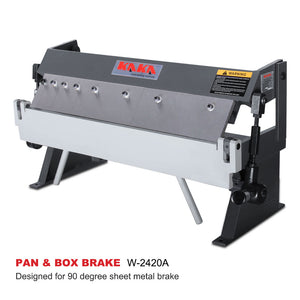 FREE SHIPPING! KAKA Industrial W-2420A 24-Inch High Precision Pan & Box Brake, 20 Gauges Sheet Metal Brake