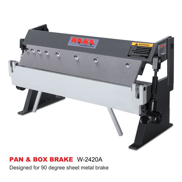 KAKA Industrial W-2420A 24-Inch High Precision Pan & Box Brake, 20 Gauges Sheet Metal Brake