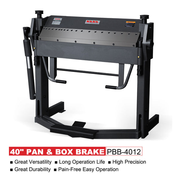 KAKA Industrial PBB-4012 40-Inch Pan and Box Brake Foot Clamp,  Easy Operation Sheet Metal Folding Machine