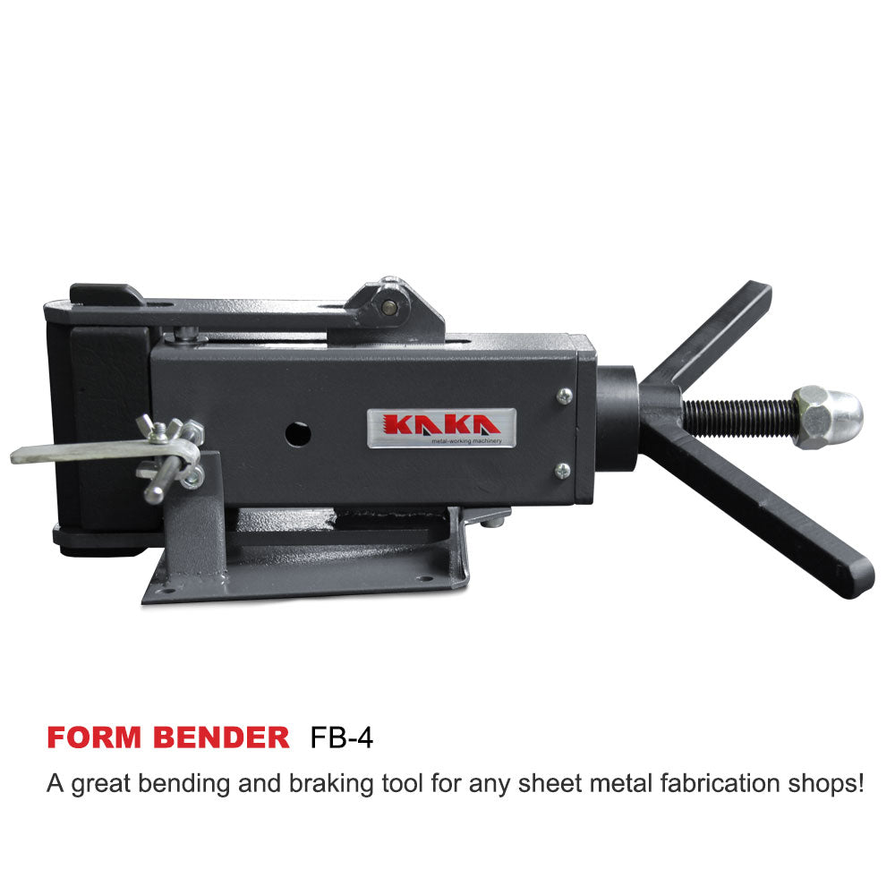 Free Shipping! KAKA Industrial FB-4  4-Inch Hand Operated Steel Bending Brake, Easy Operation Sheet Metal Forming Bender