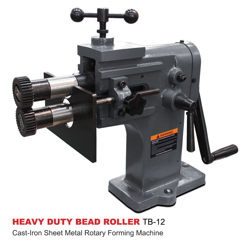 Free Shipping! KAKA Industrial TB-12 8-Inch Heavy-Duty Bead Bender, 18 Gauge Thickness, Cast-Iron Sheet Metal Rotary Forming Machine