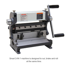 Load image into Gallery viewer, Free shipping! KAKA Industrial 3-In-1/8 8-Inch  Combination Sheet Metal Brake Shear and Roll, Pan & box brake