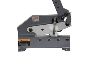 KAKA 10-IN MANUAL HAND PLATE SHEAR, SOLID AND PRECISE SHEET METAL PLATE SHEAR