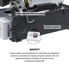 "Load image into Gallery viewer, KAKA Industrial BS-1018B 10"" Metal Cutting Band Saw Machine 220V-60HZ-1PH"