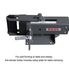 Load image into Gallery viewer, Free Shipping! KAKA Industrial FB-4  4-Inch Hand Operated Steel Bending Brake, Easy Operation Sheet Metal Forming Bender