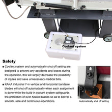 Load image into Gallery viewer, FREE SHIPPING! KAKA Industrial BS-712N 7x12 Inch Solid Horizontal Metal Cutting Band Saw