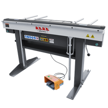 "Load image into Gallery viewer, kaka EB-6116 Manual Magnetic Sheet Metal Box and Pan Brake, 60"" Length ,1-Phase 220V, 16-Gauge Mild Steel Capacity"