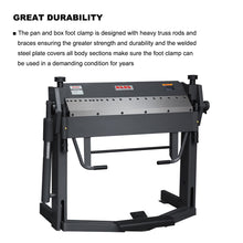 Load image into Gallery viewer, Free Shipping!!!KAKA Industrial PBB-4012 40-Inch Pan and Box Brake Foot Clamp,  Easy Operation Sheet Metal Folding Machine