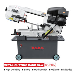 FREE SHIPPING!!! KAKA Industrial BS-712N 7x12 Inch Solid Horizontal Metal Cutting Band Saw