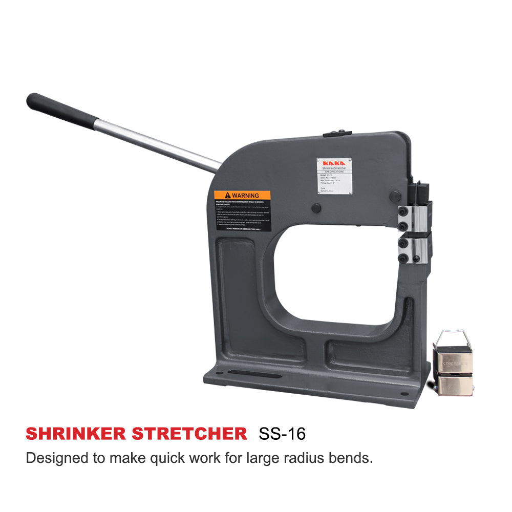SS-16 Metal Shrinker Stretcher, 16 Gauge Mild Steel, 8-Inch Throat Depth, Metal Fabrication Shrinker Stretcher