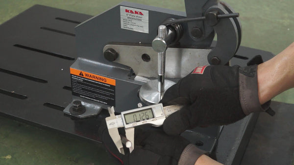 Kaka industrial HS-10 10-IN MANUAL HAND PLATE SHEAR, SOLID AND PRECISE SHEET METAL PLATE SHEAR