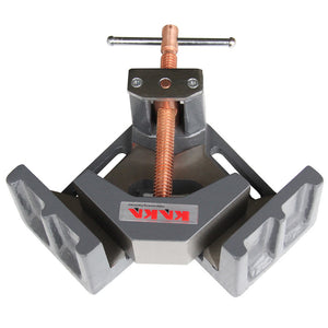 KAKA Industrial AC-100 Angle Clamp, Solid Construction, 90 Degree Welding Angle Clamp, Heavy-Duty Cast-Iron Angle Clamp Vice