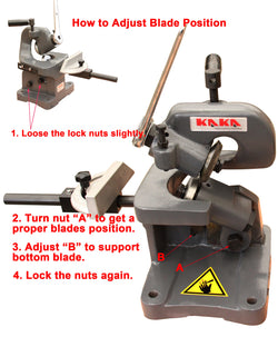 KAKAIND MMS-3 Multiple-Purpose Throatless Sheet Metal Shear Cutter with 16 Gauge