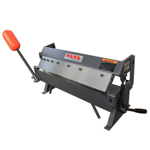 KAKA Industrial W2416Z 24-Inch Sheet Metal Brake, Solid Construction, High Precision Pan and box Brake