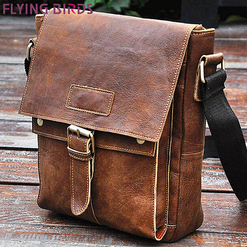 Flying Birds Genuine Leather Messenger Bag