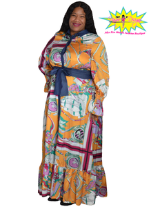 TNT COLOR ART MAXI DRESS