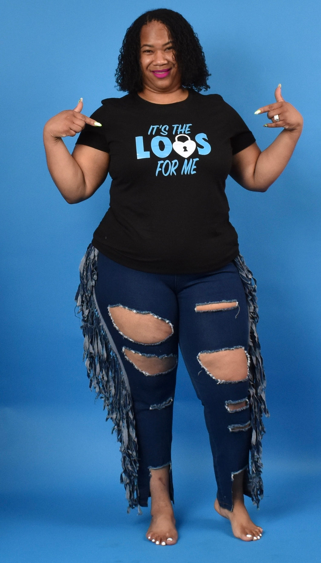 TNT BLUE IT'S THE LOCS FOR ME TEE