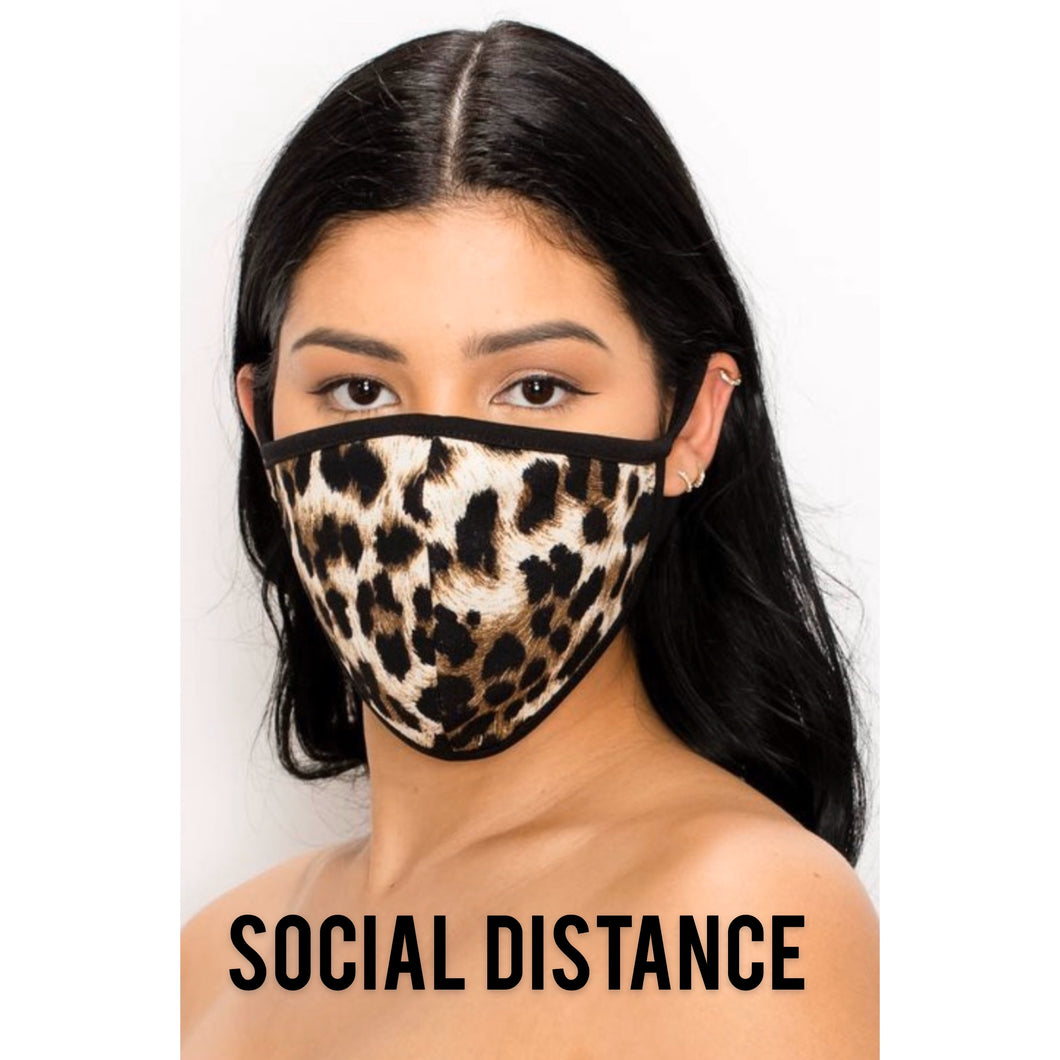 TNT LEOPARD FACE MASK