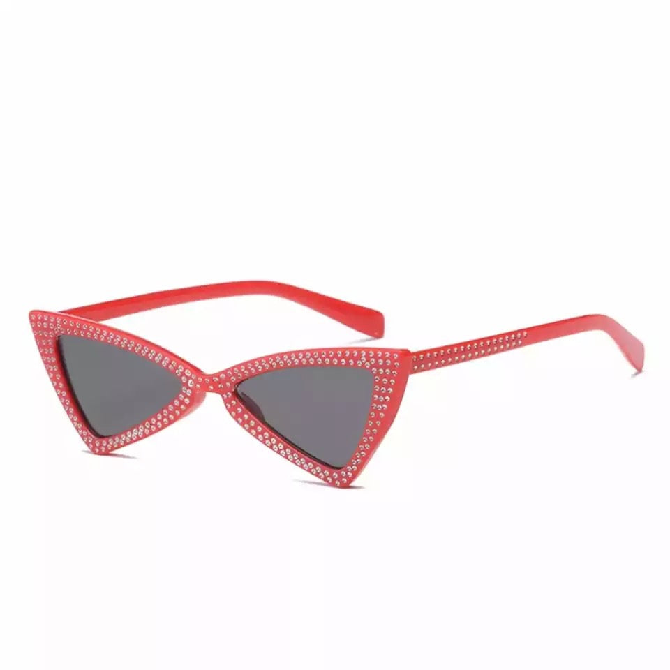 TNT RED CAT EYE SUNGLASSES