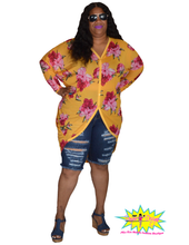 Load image into Gallery viewer, TNT FLORAL SHEER KIMONO TOP